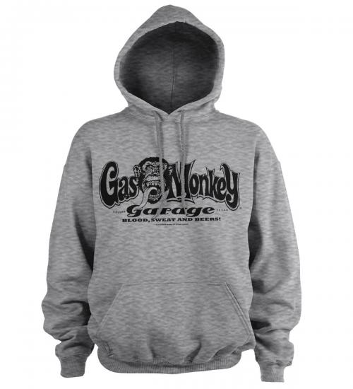 GAS MONKEY - Sweat Hoodie - Logo - Grey (S)