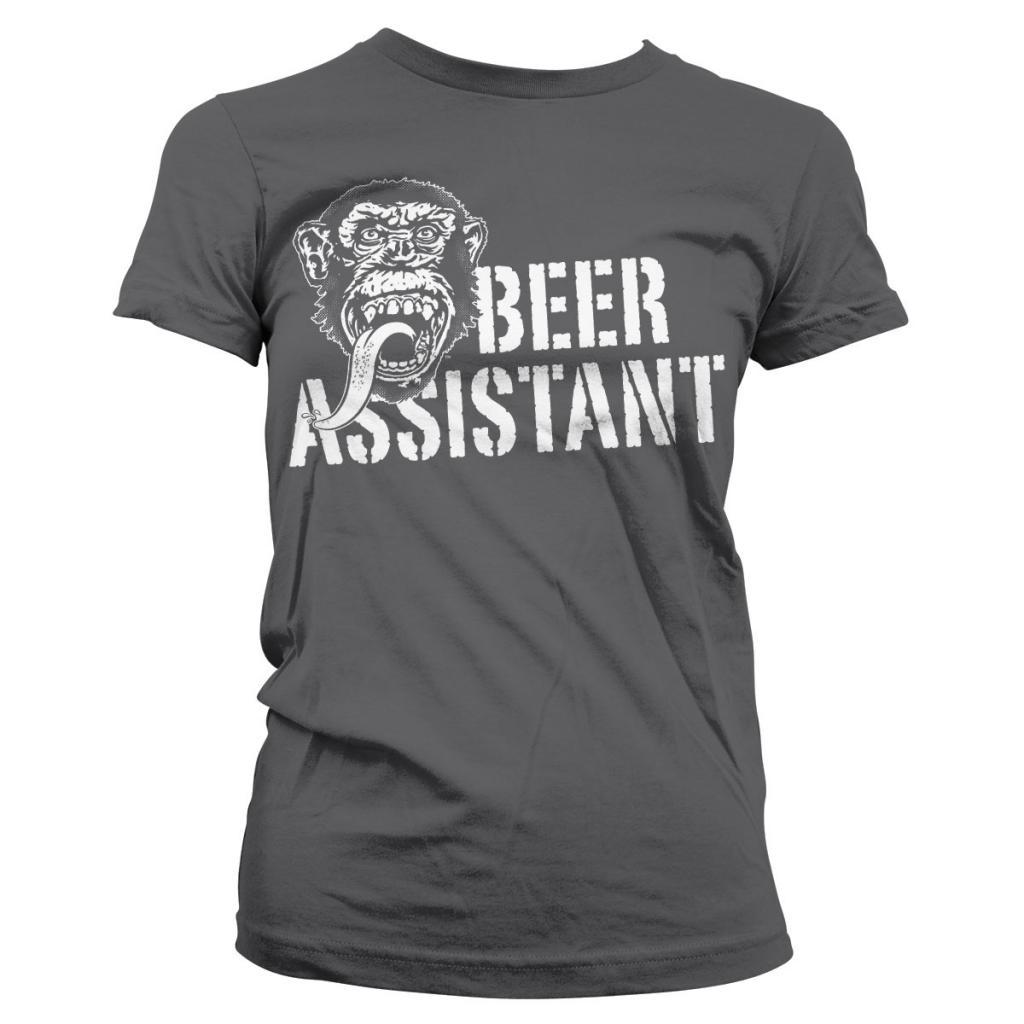 GAS MONKEY - T-Shirt Beer Assistant GIRL - Grey (L)