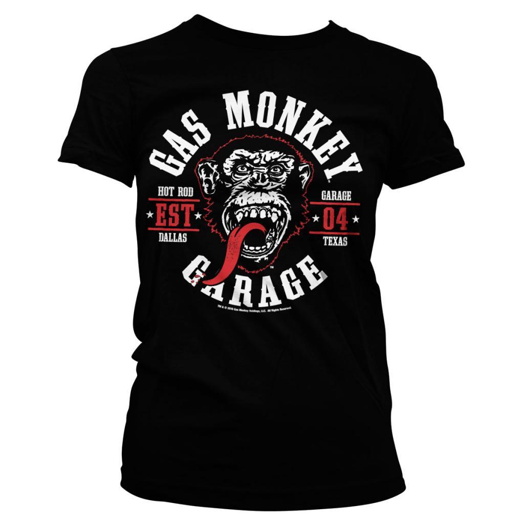 GAS MONKEY - T-Shirt Round Seal GIRL (L)