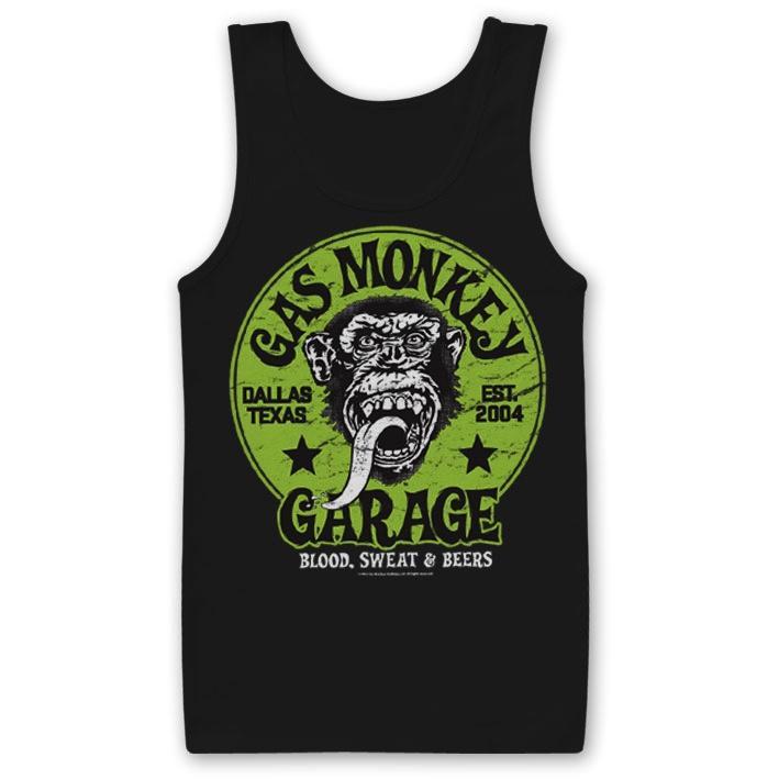 GAS MONKEY GARAGE - Débardeur Green Logo (L)