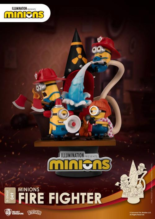 MINIONS - Fire Fighter - Diorama D-Stage 15cm
