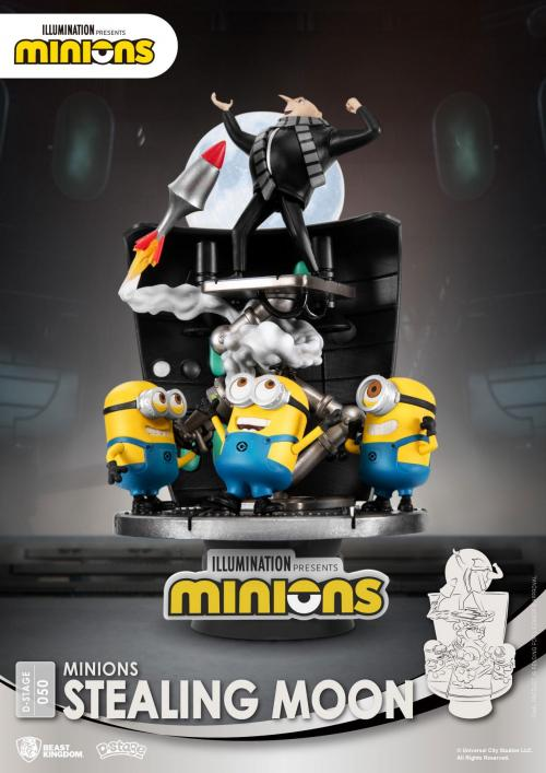MINIONS - Stealing Moon - Diorama D-Stage 15cm