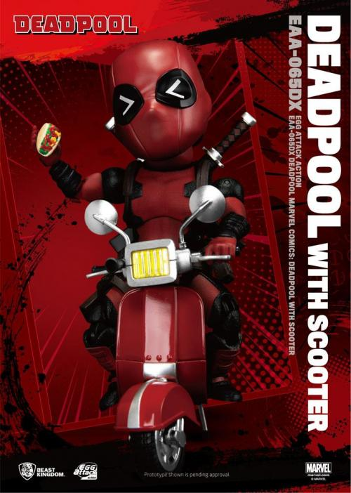 MARVEL COMICS - Deadpool Deluxe - Figurine articulée Egg Attack 17cm