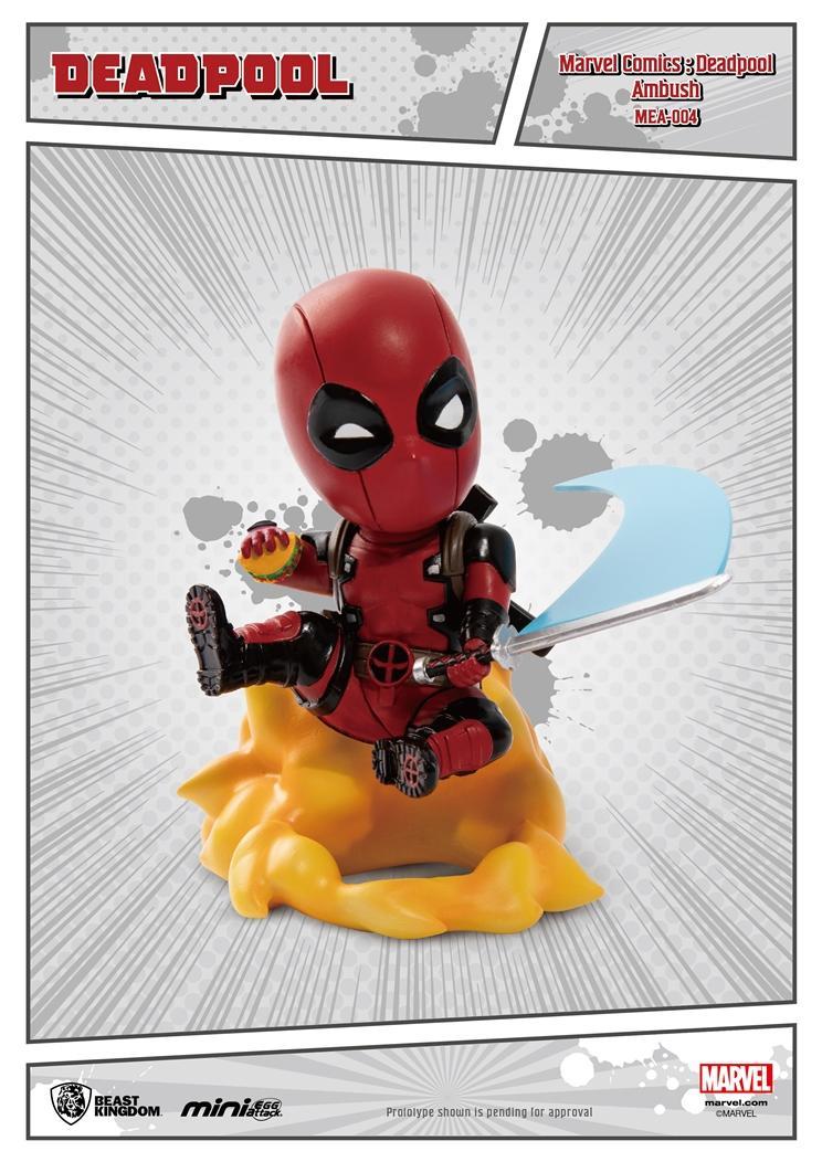 MARVEL COMICS - Figurine Mini Egg Attack - Deadpool Embush - 10cm