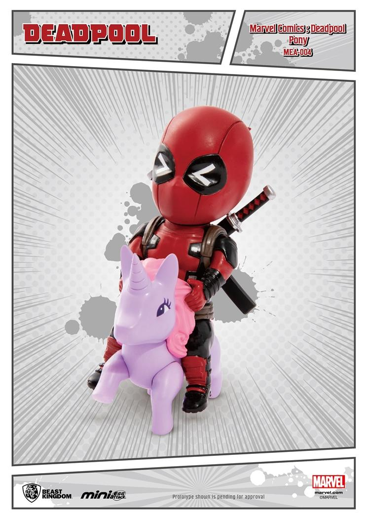 MARVEL COMICS - Figurine Mini Egg Attack - Deadpool Pony - 10cm