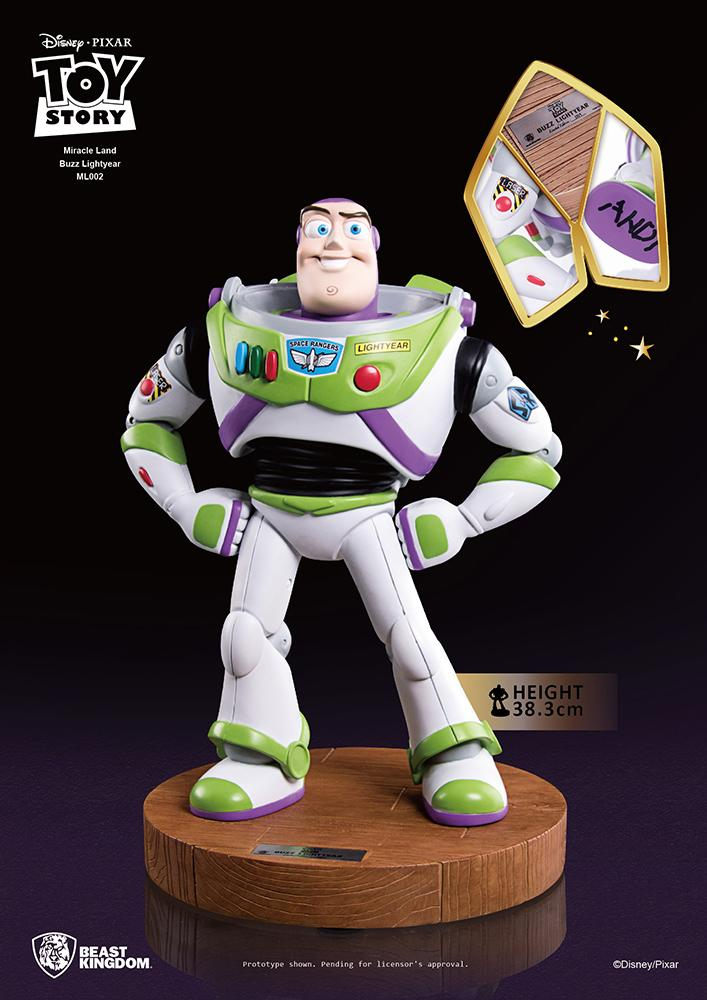 DISNEY - Toy Story 3 : Miracle Land Buzz Lightyear Statue - 38cm