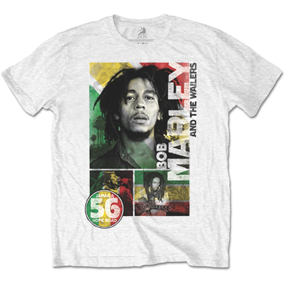 BOB MARLEY - T-Shirt - 56 Hope Road Rasta (L)