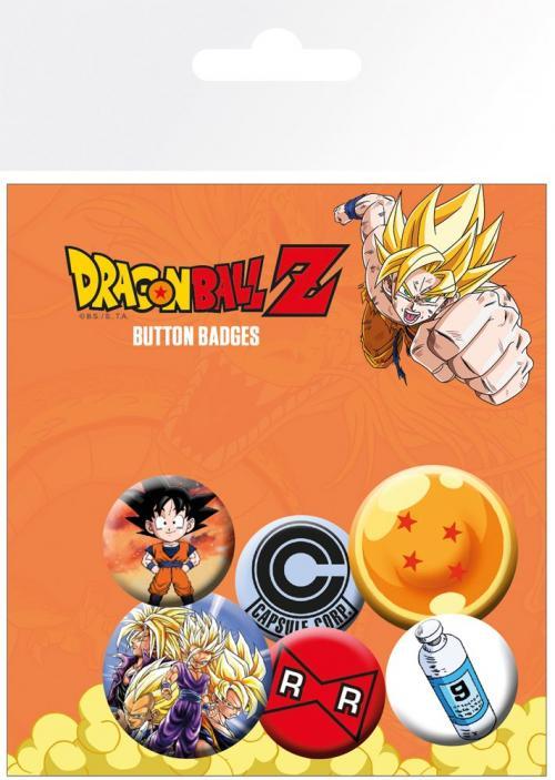DRAGON BALL Z - Pack 5 Badges - Mix