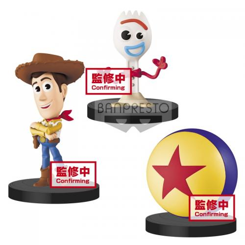 TOY STORY - Woody, Forky & Pixar Ball - Figurines 3 in 1 Pack Vol.1