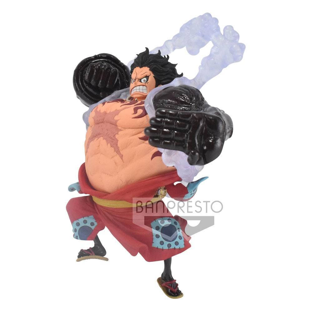 ONE PIECE - Monkey D. Luffy Gear4 - Figurine King of Artist 13cm_5