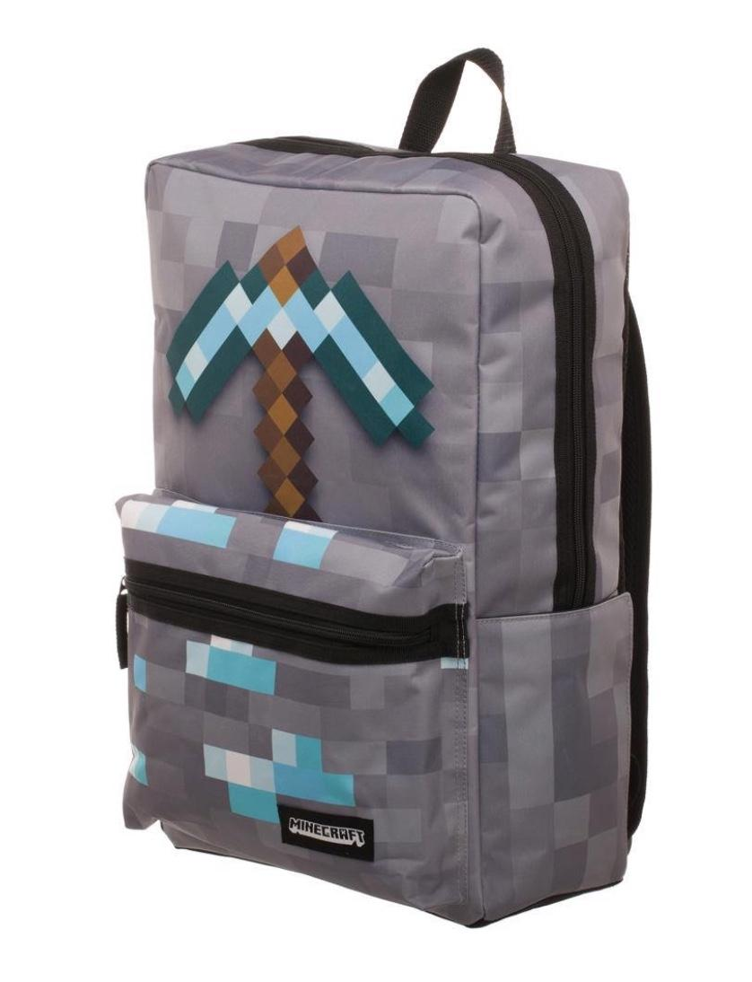 MINECRAFT - Box Backpack with Axe Print