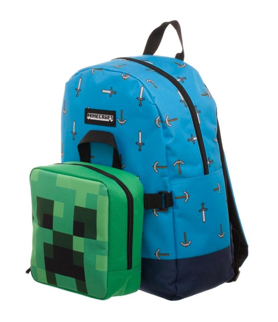 MINECRAFT - Sword Axe Backpack with Detachable Lunch Box