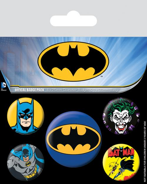 BATMAN - Characters - Pack de 5 badges