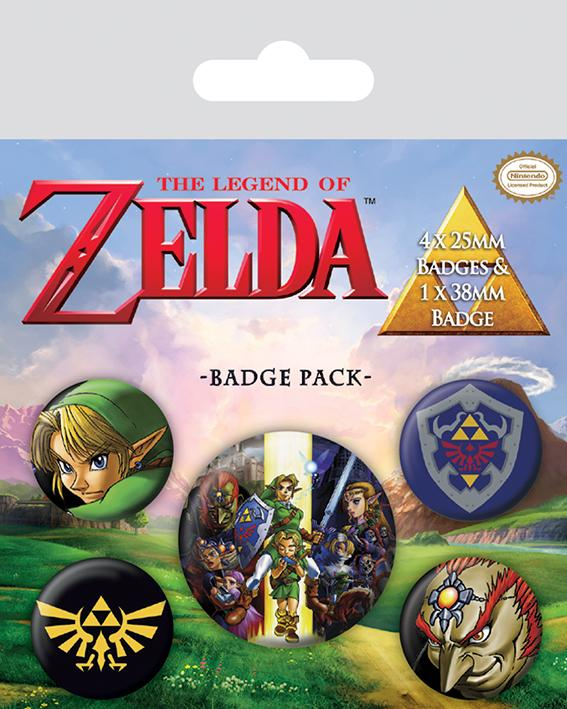 ZELDA - Pack 5 Badges - The Legend of Zelda