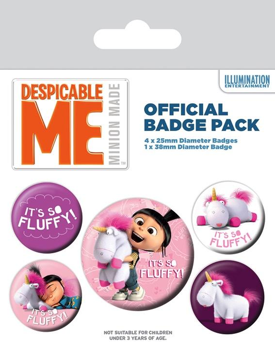 DESPICABLE ME - Pack 5 Badges - It's So Fluffy