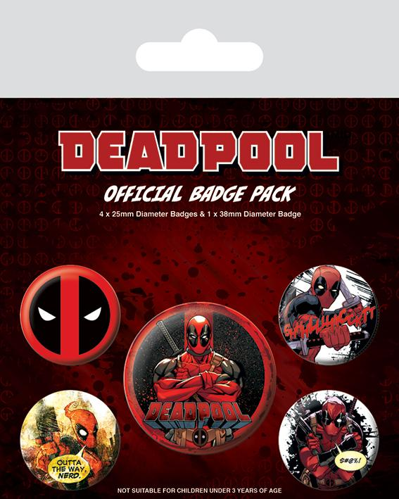 DEADPOOL - Pack 5 Badges - Deadpool