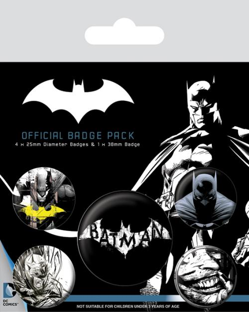 BATMAN - Dark - Pack de 5 badges
