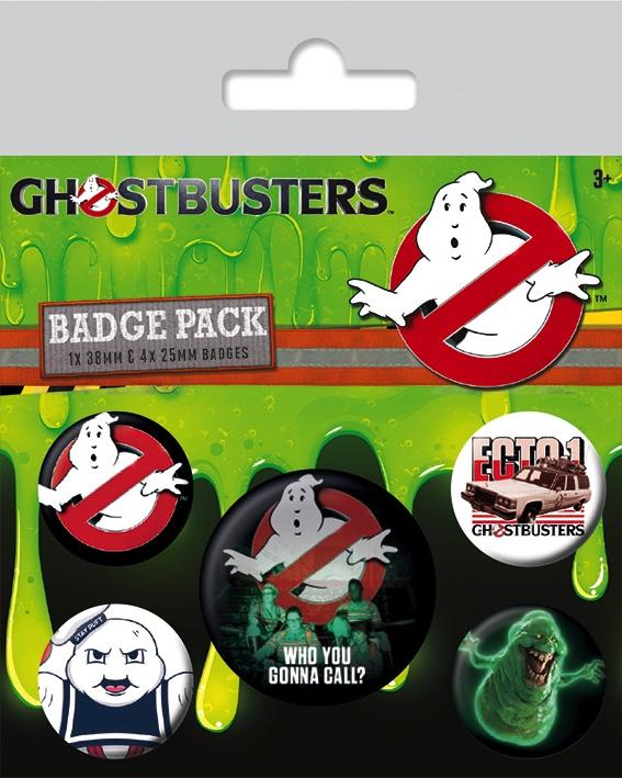 GHOSTBUSTERS - Pack 5 Badges - Who You Gonna Call