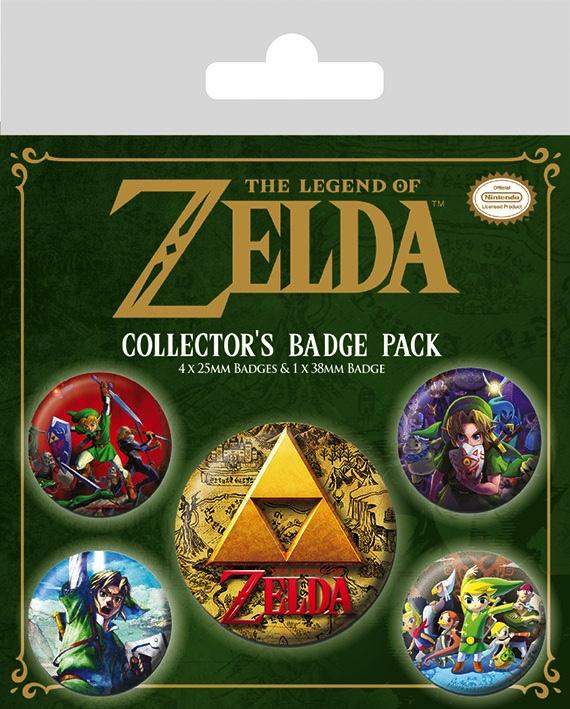 ZELDA - Pack 5 Badges - The Legend of Zelda CLASSIC