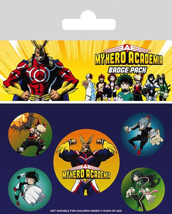 MY HERO ACADEMIA - Pack 5 Badges - Characters