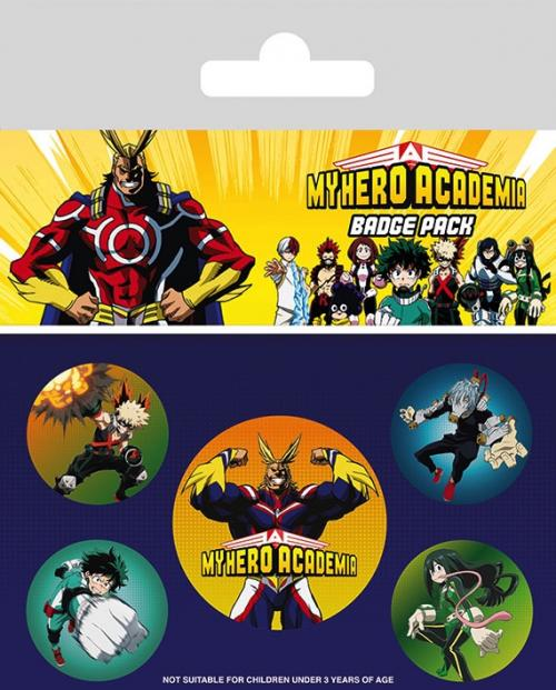 MY HERO ACADEMIA - Pack 5 Badges - Characters