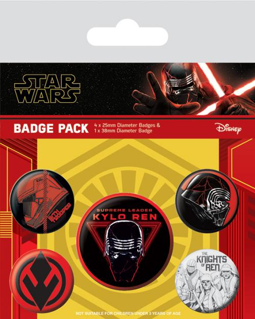 Star Wars: The Rise of Skywalker - Pack 5 Badges - Sith