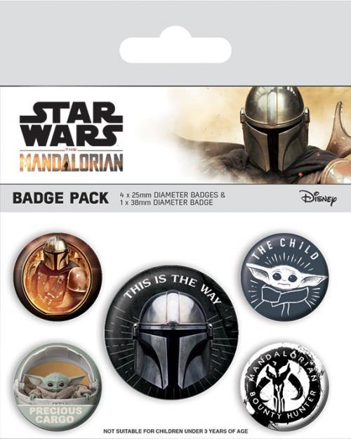 MANDALORIAN - This Is The Way - Pack de 5 badges