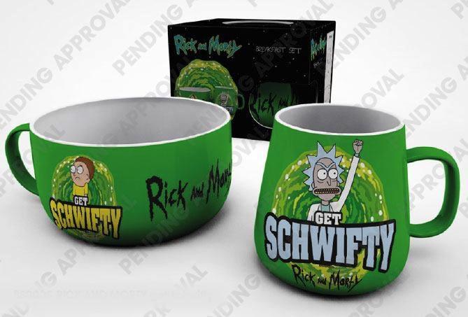 RICK & MORTY - Set Petit-Déjeuner - Get Schwifty