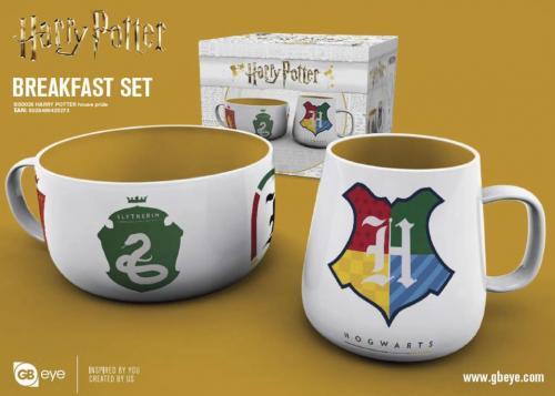 HARRY POTTER - Set Petit-Déjeuner - Bol & mug - Maisons de Poudlard