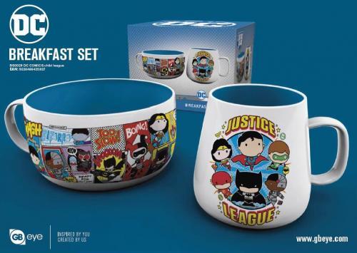 DC COMICS - Set Petit-Déjeuner - Bol & mug - Chibi League