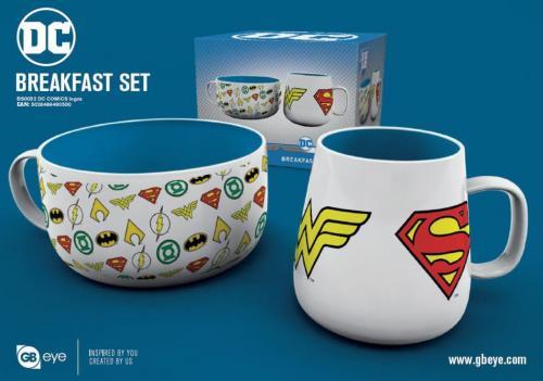 DC COMICS - Set Petit-Déjeuner - Bol & mug - Logos