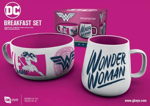 DC COMICS - Set Petit-Déjeuner - Bol & mug - Wonder Woman
