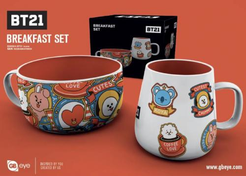 BT21 - Set Petit-Déjeuner - Bol & mug - Icones