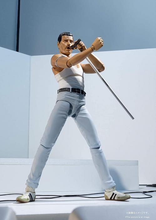 QUEEN - Freddie Mercury Live Aid - Statuette SH Figuarts 16cm