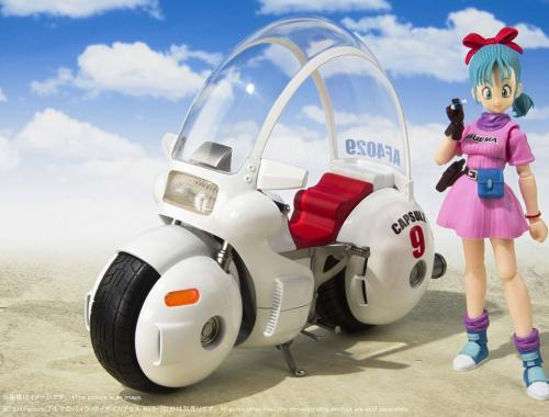 DRAGON BALL - Bulma Motorcycle - Figurine SH Figuarts 17cm