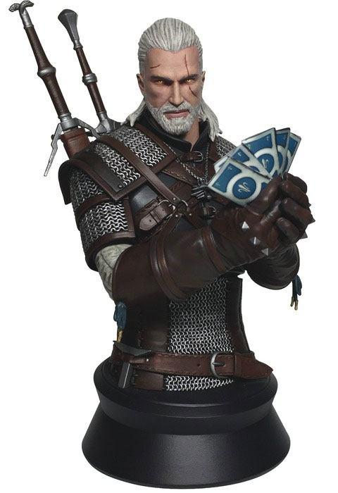 THE WITCHER 3 The Wild Hunt - Buste Geralt Playing Card - 23cm