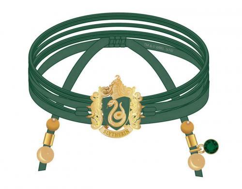 HARRY POTTER - Serpentard - Bracelet en daim