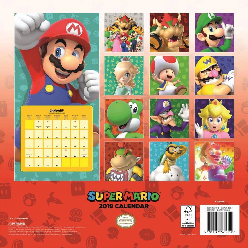 MINTENDO - Super Mario Calendrier 2019
