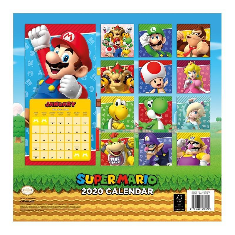 NINTENDO - Super Mario Calendar 2020_1