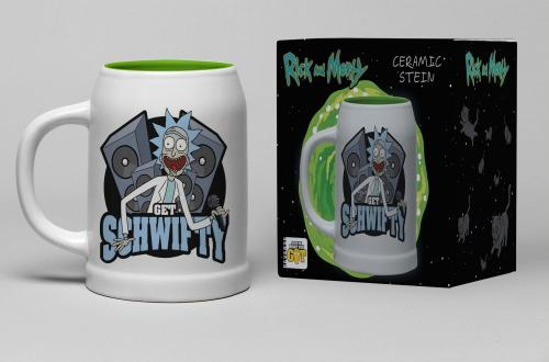 RICK & MORTY - Chope Céramique 600ml - Get Schwifty