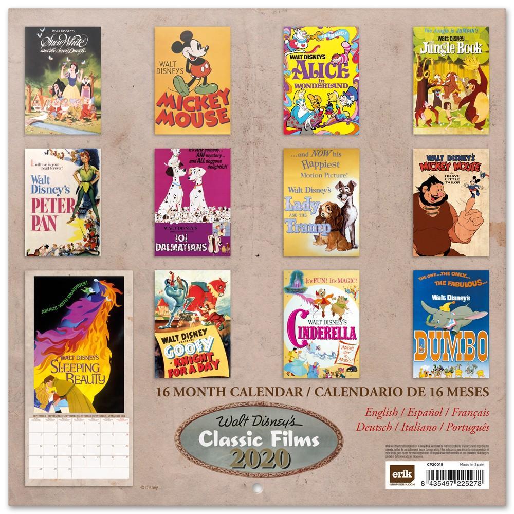DISNEY Classic Films - Calendrier 2020 - 30x30_2
