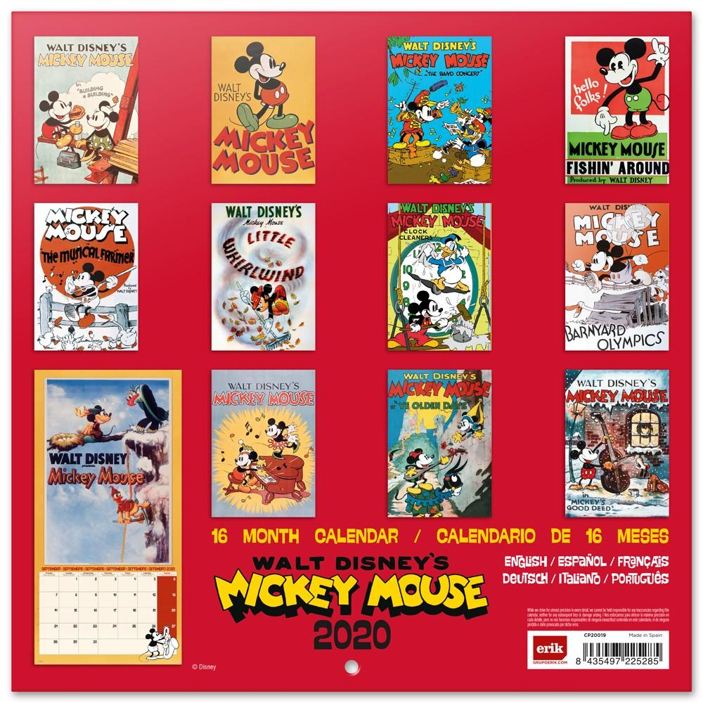 DISNEY Mickey Mouse - Calendrier 2020 - 30x30_2