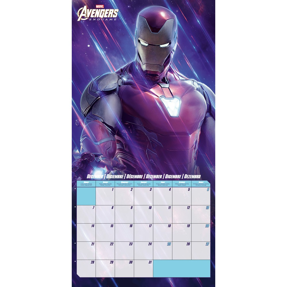 Marvel Calendrier.Shopforgeek Marvel Avengers Calendrier 2020 30x30