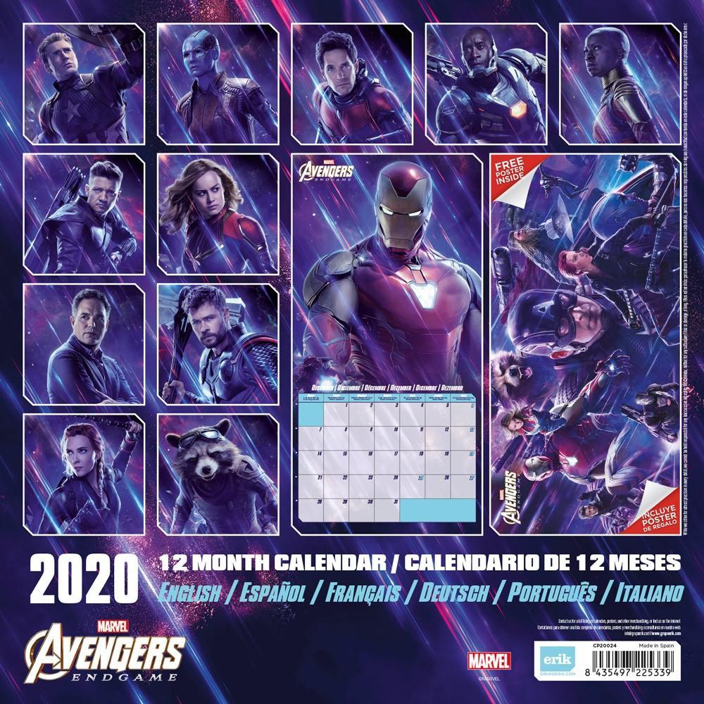 MARVEL AVENGERS - Calendrier 2020 - 30x30_2