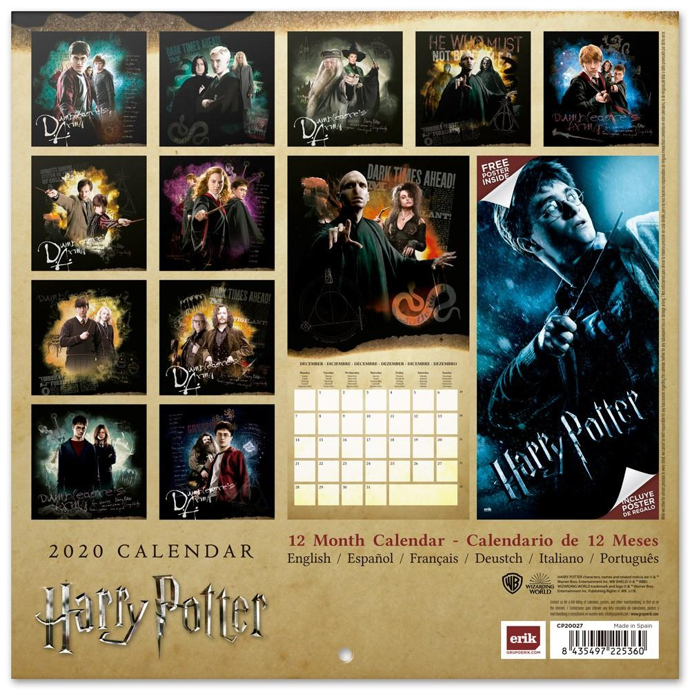 HARRY POTTER - Calendrier 2020 - 30x30_2