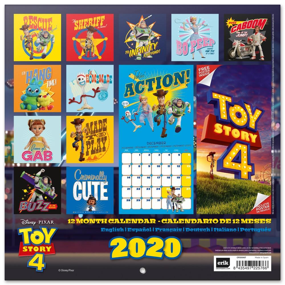 TOY STORY 4 - Calendrier 2020 - 30x30_2