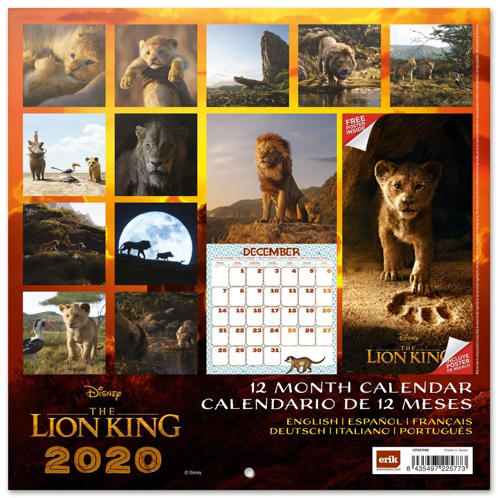 DISNEY Lion King - Calendrier 2020 - 30x30_2