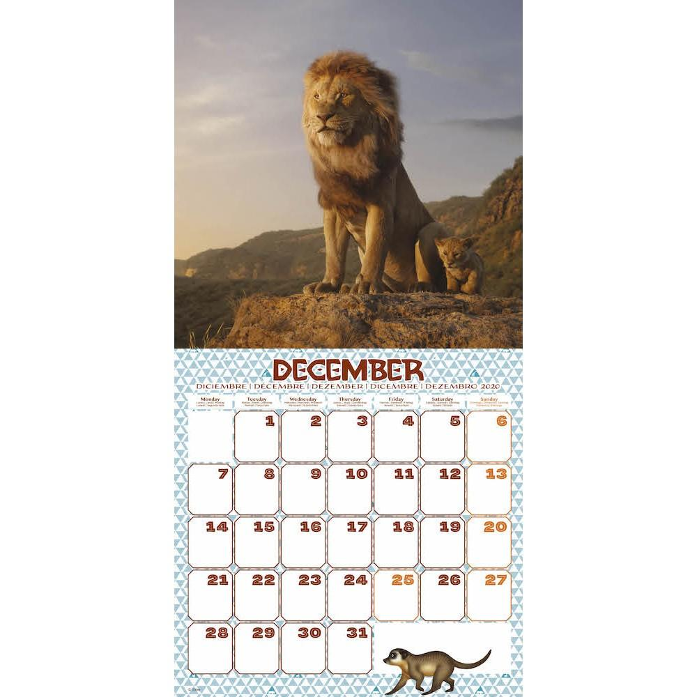 DISNEY Lion King - Calendrier 2020 - 30x30_3