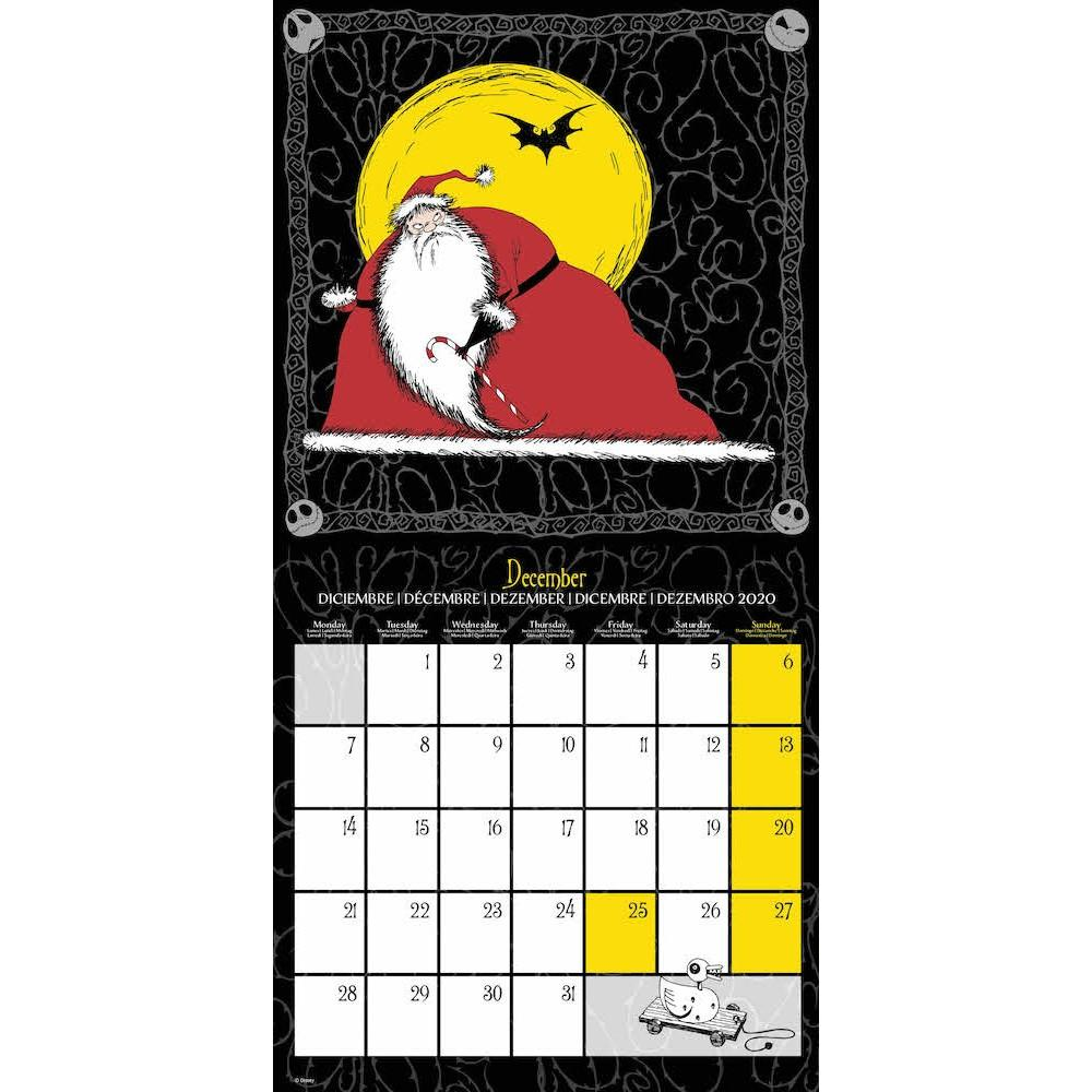 NIGHTMARE BEFORE CHRISTMAS - Calendrier 2020 - 30x30_3
