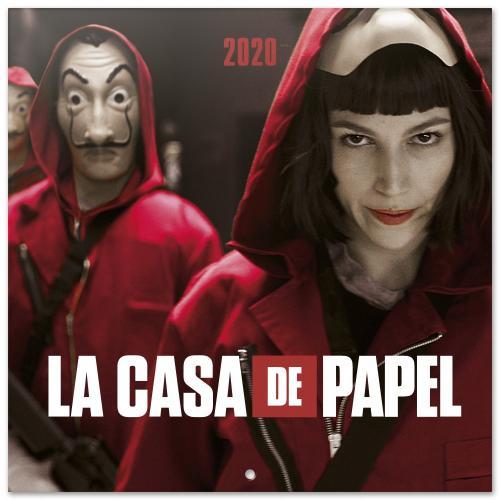 CASA DE PAPEL- Calendrier 2020 - 30x30